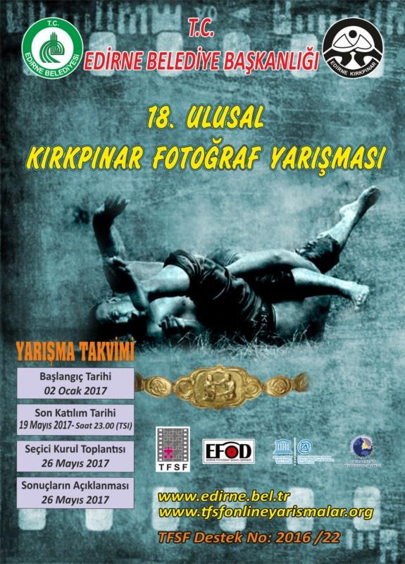 Edirne Belediyesi 18. Kırkpınar Ulusal Fotoğraf Yarışması- Son Katılım Tarihi: 19.5.2017
