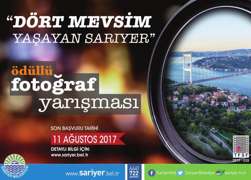 SARIYER BELEDİYESİ  ULUSAL FOTOĞRAF YARIŞMASI - Son Katılım Tarihi: 11 Ağustos 2017