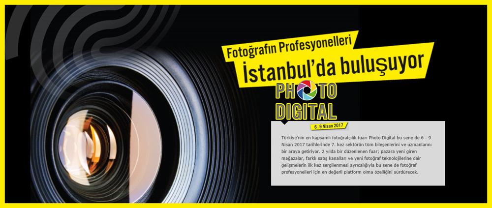 Sektörün kalbi Photo&Digital fuarında atacak. Türkiye'nin en kapsamlı fotoğrafçılık fuarı Photo&Digital, 6 - 9 Nisan 2017 tarihlerinde İstanbul'da.