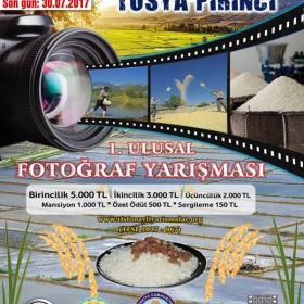 """Tosya Kaymakamlığı """"Tarladan Sofraya Tosya Pirinci"""" 1. Ulusal Fotoğraf Yarışması  Son Katılım Tarihi: 30 Temmuz 2017"""