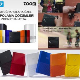 Fotoğrafçılar için WD'nin tüm depolama ürünleri artık Zoom İthalat'ta