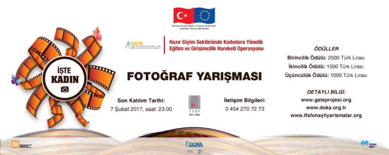 """Ödüllü Fotoğraf Yarışması - Konu: """"İŞ'TE KADIN"""""""