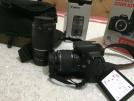 canon eos 650d 18-55 + 75-300 lens + çanta 18 mp 3,0 lcd ekran slr dıjıtal fotograf makinası: