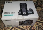 Canon 70D 18-135 is stm lens  sıfır kapalı kutu faturali garantili