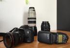 Satılık Canon Set-MarkIII -17-40mm-24-70mm-100-400mm-600 exrt flash