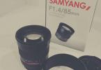 SIFIR AYARINDA SAMYANG 85MM F 1,4