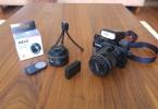 Canon Eos M +18-55+22 mm F1:2+Flaş+Meike adaptör+uzaktan kumanda+yedek pil+ mini tripod+filtreler Full aksesuar