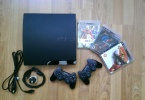 Sony PS3 500GB Slim + 2 Joystick + Fifa 10 + God of War III + Gran Turismo 5