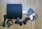 Sony PS3 500GB Slim + 2 Joystick + Fifa 10 + God of War III + Gran Turismo 5