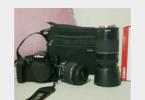 EOS 1100 d yanında 18-55 ve 75-300 lens ve cantasıyla beraber satılık