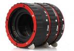 Macro Extension Tube Set 13mm / 21mm / 31mm for Canon EF & EF-S Lenses - Black + Red