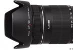 canon 18-135mm ıs lens + parasoley + uv filtre + polarize filtre