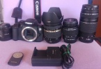 CANON 650D + TAMRON 17-50 VC + CANON 75-300 + CANON 50mm 1.8 + CANON 18-55 + UZAKTAN KUMANDA