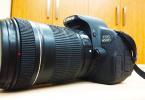 Satılık canon 650d+ 18-135 lens