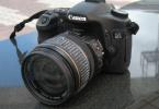 6000 çekim nokta çiziksiz efsane 40D+18 - 55 Lens