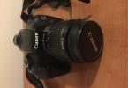Canon 1100d + 18-55 lens + 2 adet yedek batarya