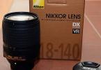 Nikon AF-S DX NIKKOR 18-140mm f/3.5-5.6G ED VR Lens + Garantili