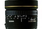 Nikon uyumlu Sigma 8mm f / 3.5 EX DG Balıkgözü