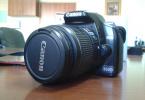 Canon 450 d ve 430 ex flash canta ve kutulu