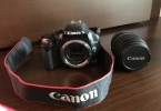 Çok temiz Canon EOS 450D digital fotoğraf makinası + 18-55DC Lens