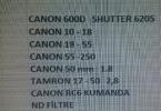 600d ve 5 farklı lens