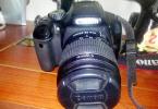 Canon 550d makine +18-55+75-300 lens