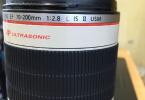CANON ZOOM LENS EF 70-200 MM 2.8 L IS II USM