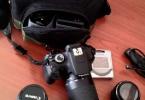3 lens+full aksesuarla birlikte çok temiz canon eos 1200d