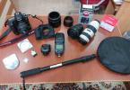 Full Canon Set - 3 Adet lens ve tüm ihtiyaçlar ile