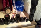 8Adet lens ve Canon 60d cok cok ucuz