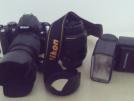 Nikon d5000 -18-55mm 55-200mm lens- Bellohowell z680af-n flas Sahibinden ögrenci makinası