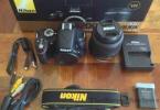 Nikon D3200 18+55 55+200  wi-fi+uzaktan kumanda iki çanta