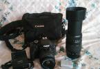 Cift Lensli Canon 600d Lowepro Canta İki adet batarya sifir ayarinda
