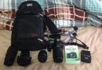 Canon 80D + 4 prime lens