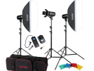 Godox E400 WS 3'lü Softbox Paraflaş Set