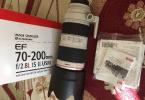 Canon 70-200 2.8 ıs II Tertemiz sıfırdan farkı Yok