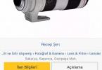 CANON 70-200mm f:2,8 II - Çok temiz 10 kere kullanilmadi