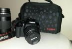 CANON EOS 1300D 18-55 mm + 75-300 mm DC Lens Dijital SLR Fotoğraf Makinesi
