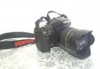 -SATILDI- Pentax K20D + 18-55mm Lens + Chinon 50mm f1.4 + 2 Pil Şarj Aleti + Çanta=650TL