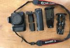 Canon 70D + batary grip + 2 batarya