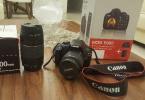 Sıfır ayarında, en fazla üç kere kullanılmış Canon EOS 1100 D