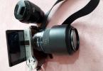 1 yıl garantili sıfır ayarında nx300m 18-55mm +50-200 mm lens