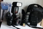 SONY alpha A57 DSLR Pro Camera + 50mm Minolta F1.7 ve28-200mm Lens