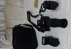 Canon 600d 18-55 ve 75-300lens Flaş Hediye cok Acil