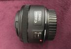 Canon 50 mm f1.8 mm lens, tertemiz, garantili