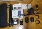 Canon 60D 18-135mm+10-18mm 3.2k shutter bol ekstralı