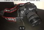 Canon 7D Mark ll 18-135mm Lens