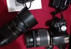 Canon 500D +  Canon 18-200mm  Lens + 70-300mm Tamron Lens + Çantası + UV Filtre + Parasoley