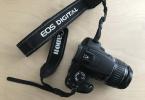Canon DSLR Eos 350D - 18-55mm zoom lens + 2 adet 4GB CF kart ile