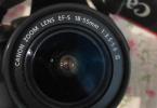 CANON EOS600d 2 adet lens (75*300 ve 15*55) çanta + makine + şark aletleri